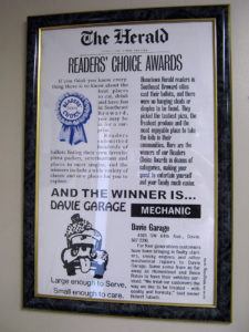 The Miami Herald - Reader's Choice Award for Auto Mechanic in Broward County