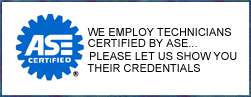 Davie Garage employs technicians certified by the ASE