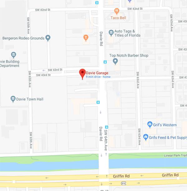 Davie Garage - 4301 SW 64th Avenue Davie, Florida 33314 (954) 587-2310
